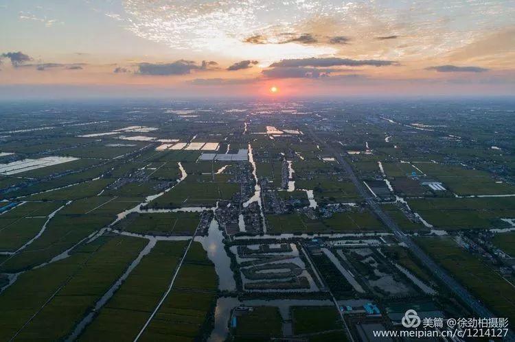 9月26日,白甸镇里下河水乡风光.(无人机拍摄)